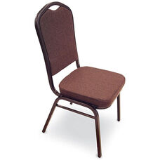 Superb Seating Heavy-Duty Steel Frame Fabric Upholstered Stacking Chair - Espresso