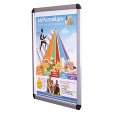 DecoVue Easy to Open Aluminum Snap Frame Poster Board with Clear Anti-glare Acrylic Cover