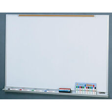 Quick Ship LCS Deluxe Markerboard with Marker Tray and Map Rail - 48
