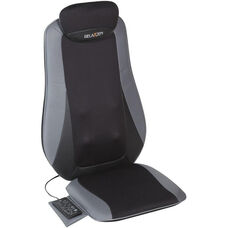 Relaxzen Shiatsu and Tapping Massage Cushion - Gray and Black