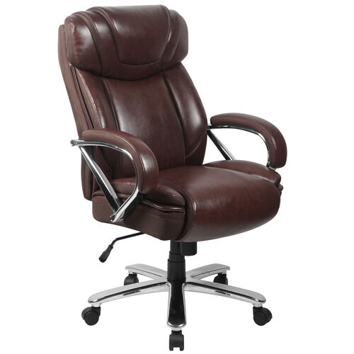 Our HERCULES Series Big & Tall 500 lb. Rated Brown LeatherSoft Executive Swivel Ergonomic Office Chair with Extra Wide Seat is on sale now.