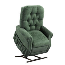 Two Way Reclining Power Lift Chair with Matching Arm and Headrest Covers - Encounter Pine Fabric