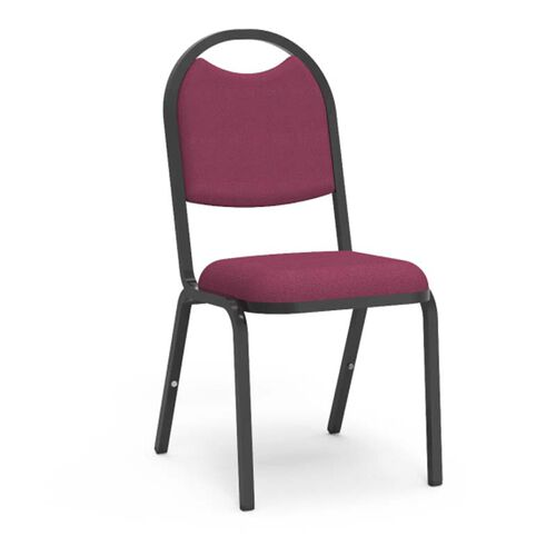 Our 8900 Series Stack Chair with Round Back and Dome Seat - Black Frame - 18