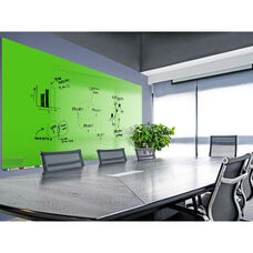 Aria Horizontal Magnetic Glass Dry Erase Board with 4 Markers, Eraser, and 4 Rare Earth Magnets - Green - 60