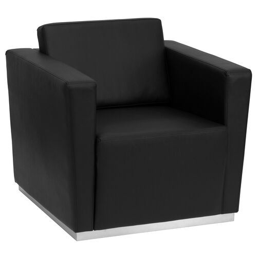 Our HERCULES Trinity Series Contemporary Black LeatherSoft Chair with Stainless Steel Base is on sale now.