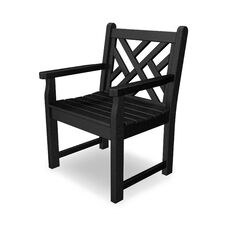 POLYWOOD® Chippendale Collection Arm Chair - Black