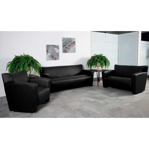 HERCULES Majesty Series LeatherSoft Loveseat with Extended Panel Arms