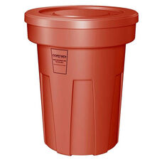 45 Gallon Cobra Food Grade/General Use Trash Can - Red