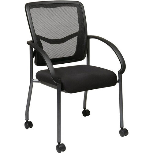 Our Pro-Line II ProGrid® Titanium Finish Visitors Chair with Armrests and Casters - Black is on sale now.
