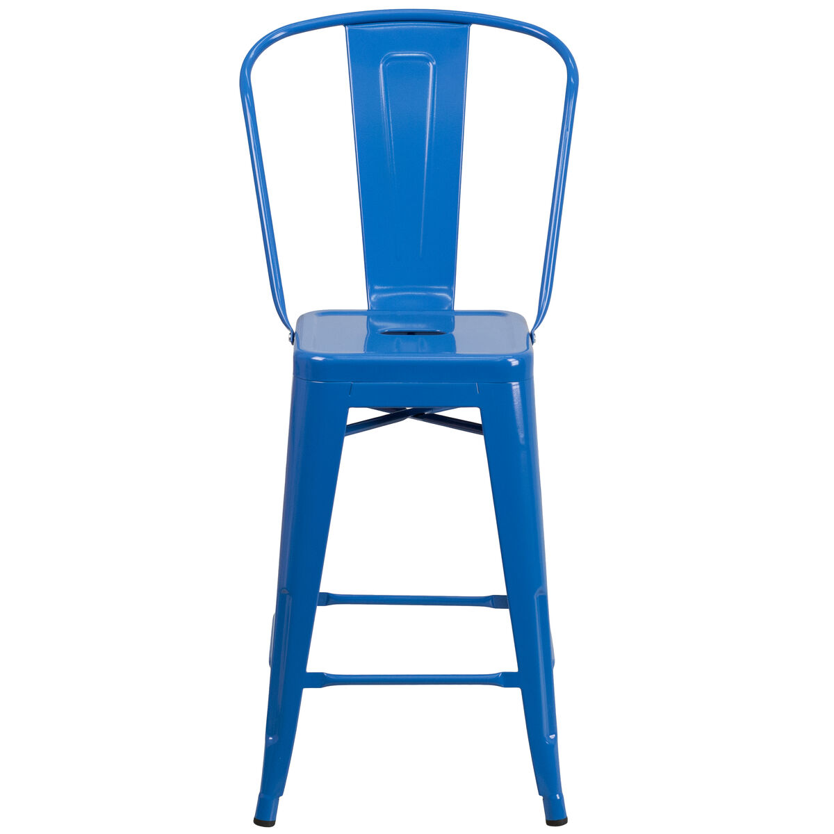 24 Quot Blue Metal Outdoor Stool Ch 31320 24gb Bl Gg