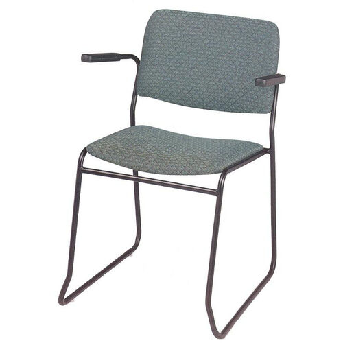 Endurance Contemporary Stack Chair with Contoured Seat and Arms - Open Back