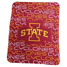 Iowa State University Team Logo Classic Fleece Throw