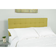 Bedford Tufted Upholstered King Size Headboard in Green Fabric