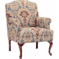 6000 Wing Chair: Tight Seat with Queen Anne Legs - Grade 1