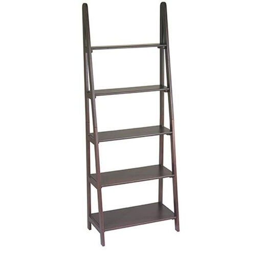 OSP Designs Ladder Bookcase with 5 Shelves - Espresso