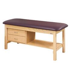 Flat Top Treatment Table - 2 Drawers - Full Shelf - 27