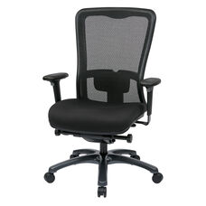 Pro-Line II ProGrid® Mesh High Back and Fabric Seat Task Chair with Seat Slider andSynchro Control - Black