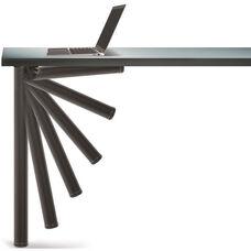 Matte Black Push-Button Single Foldable Table Leg with Mounting Hardware - 27.75