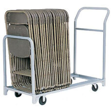 Folded or Stacked Chair Tote with Push Handle - 22''W x 67''D