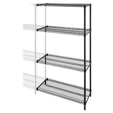 Lorell Add -On -Unit -Wire Shelving -4 Shelves/2 Posts -36