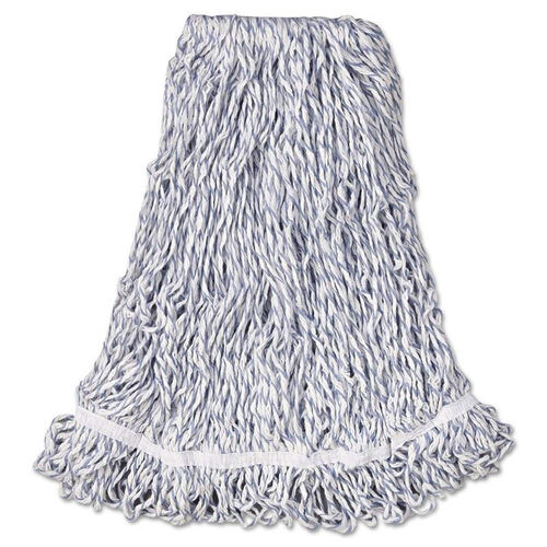 Our Rubbermaid® Commercial Web Foot Finish Mop - Cotton/Synthetic - White - Large - 1