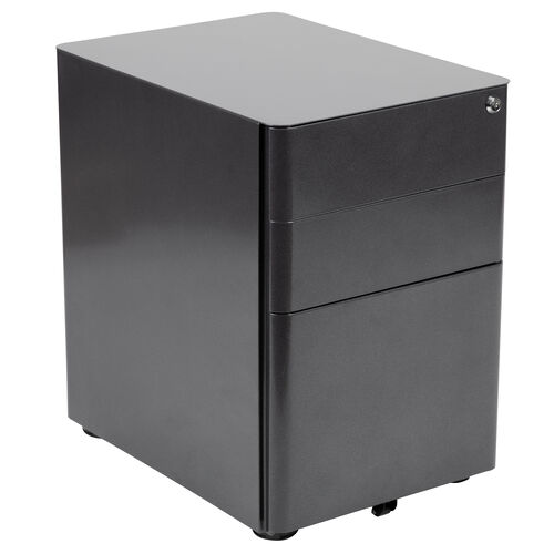 Our Modern 3-Drawer Mobile Locking Filing Cabinet with Anti-Tilt Mechanism and Hanging Drawer for Legal & Letter Files, Black is on sale now.