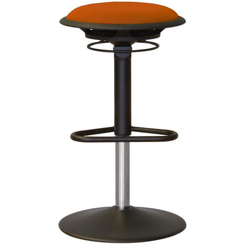 Our Jax Mesh Stool with Footrest and Round Seat - Orange is on sale now.