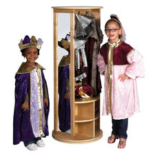 Birch Hardwood Dress Up Carousel with 2 Full-Length Mirrors and Storage Bins