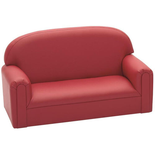 Our Just Like Home Enviro-Child Toddler Size Sofa - Deep Red - 34