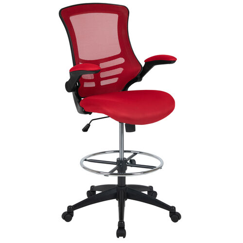 Our Mid-Back Red Mesh Ergonomic Drafting Chair with Adjustable Foot Ring and Flip-Up Arms is on sale now.