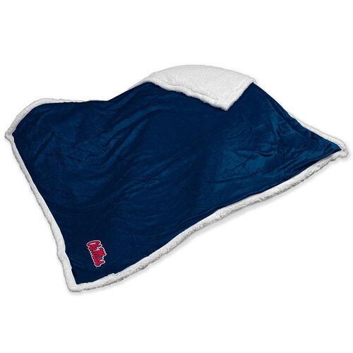 Our University of Mississippi Team Logo Sherpa Throw is on sale now.