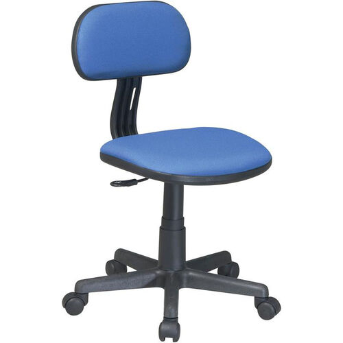 OSP Designs Armless Computer Task Chair with Seat Height Adjustment and Casters - Blue