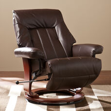 Norland Recliner with Hidden Ottoman - Kona Brown