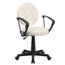 Baseball Swivel Task Chair with Arms