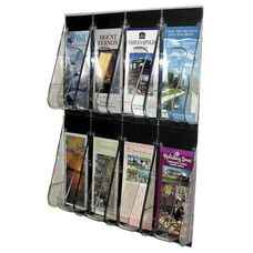 Deflecto Pamphlet Wall Rack -8 Pocket -18 1/4