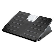 Fellowes® Adjustable Locking Footrest w/Microban - 17 1/2 x 13 1/8 x 5 5/8 - Black/Silver