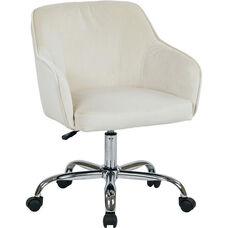 Ave Six Bristol Fabric Task Chair - Oyster Velvet