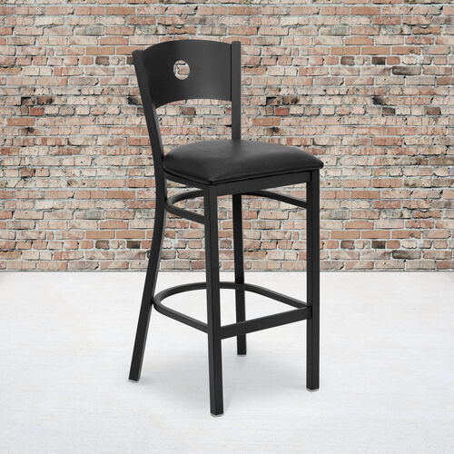Our Black Circle Back Metal Restaurant Barstool is on sale now.