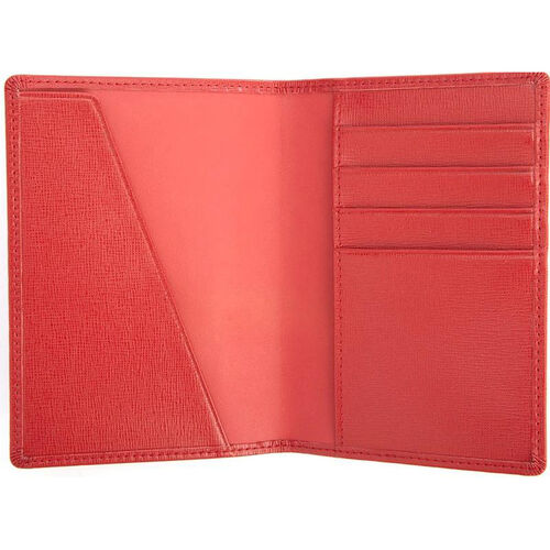 Our RFID Blocking Passport Document Wallet - Saffiano Genuine Leather - Red is on sale now.