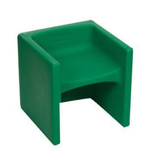 Green Indoor/Outdoor Chair Cube with Radius Corners