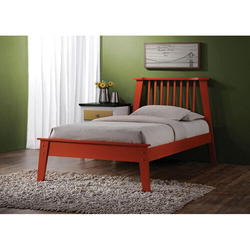 Our Marlton Wooden Bed with Vertical Slat Headboard - Queen - Orange is on sale now.