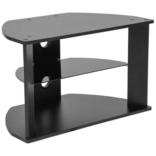 Our Northfield Black Finish TV Stand with Glass Shelves is on sale now.