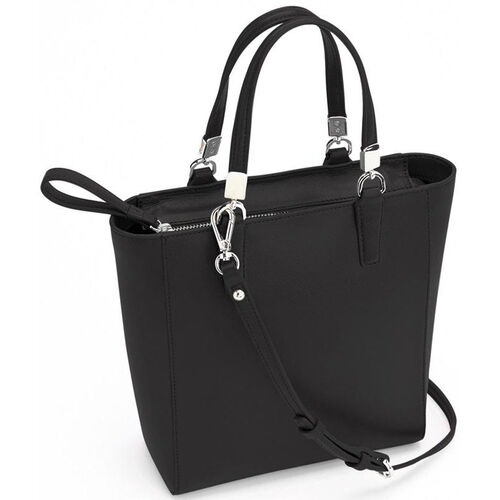 Our RFID Blocking Mini Tote Cross Body Bag - Saffiano Genuine Leather - Black is on sale now.