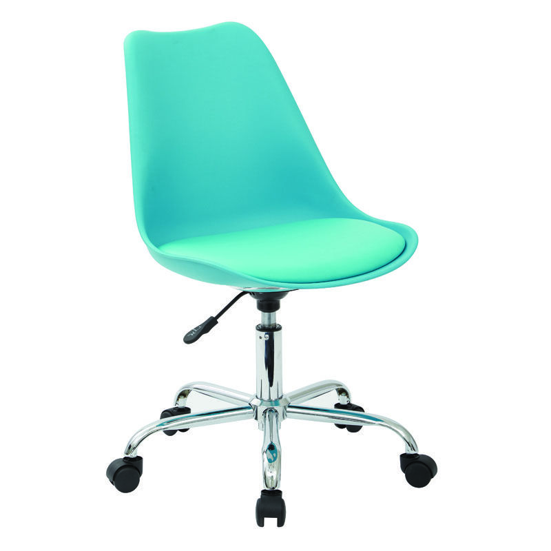 ... Our Ave Six Emerson Armless Task Chair With Chrome Base And Casters    Teal Is On ...
