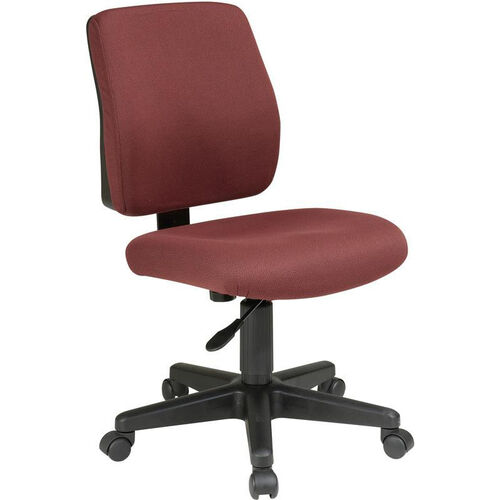 Our Work Smart Deluxe Upholstered Fabric Task Chair with Ratchet Back Height Adjustment is on sale now.