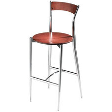 Cafe Twist Maple Barstool with Ply Wood Back and Ply Wood Seat