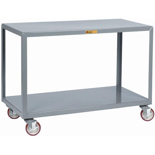 Our Mobile Table With 2 Flush Shelves and 5