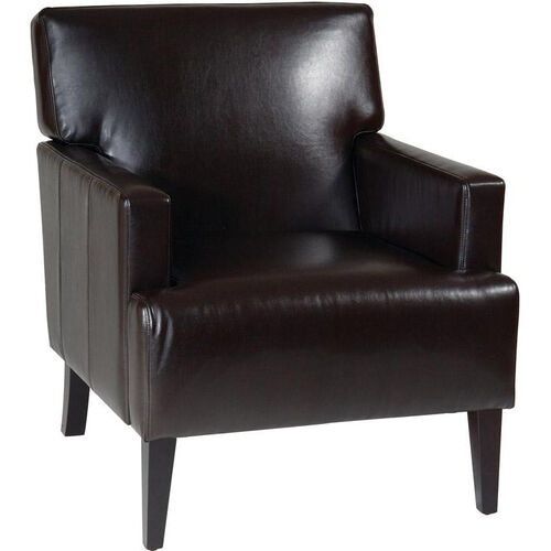 Our Ave Six Carrington Eco Leather Upholstered Arm Chair with Solid Wood Legs - Espresso is on sale now.