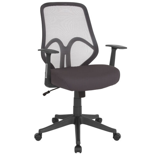 Our Salerno Series High Back Dark Gray Mesh Office Chair with Arms is on sale now.