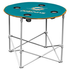 Miami Dolphins Team Logo Round Folding Table